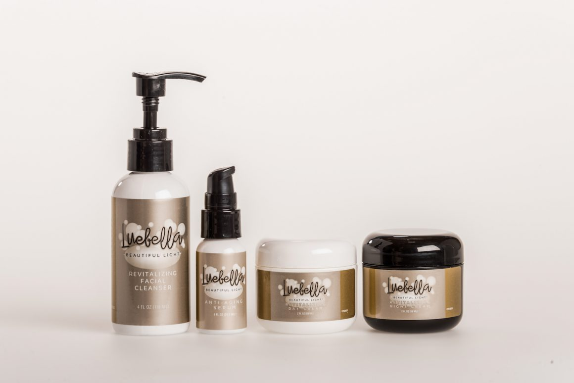 Luebella is great skin care for that Valentine's Day glow.