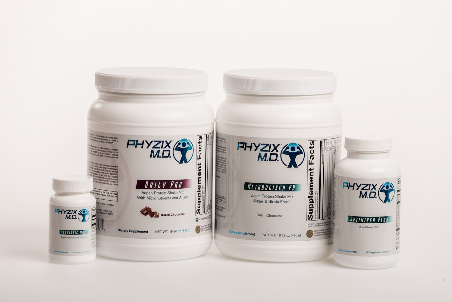 Pictured here is the Phyzix MD Cleanse product line.