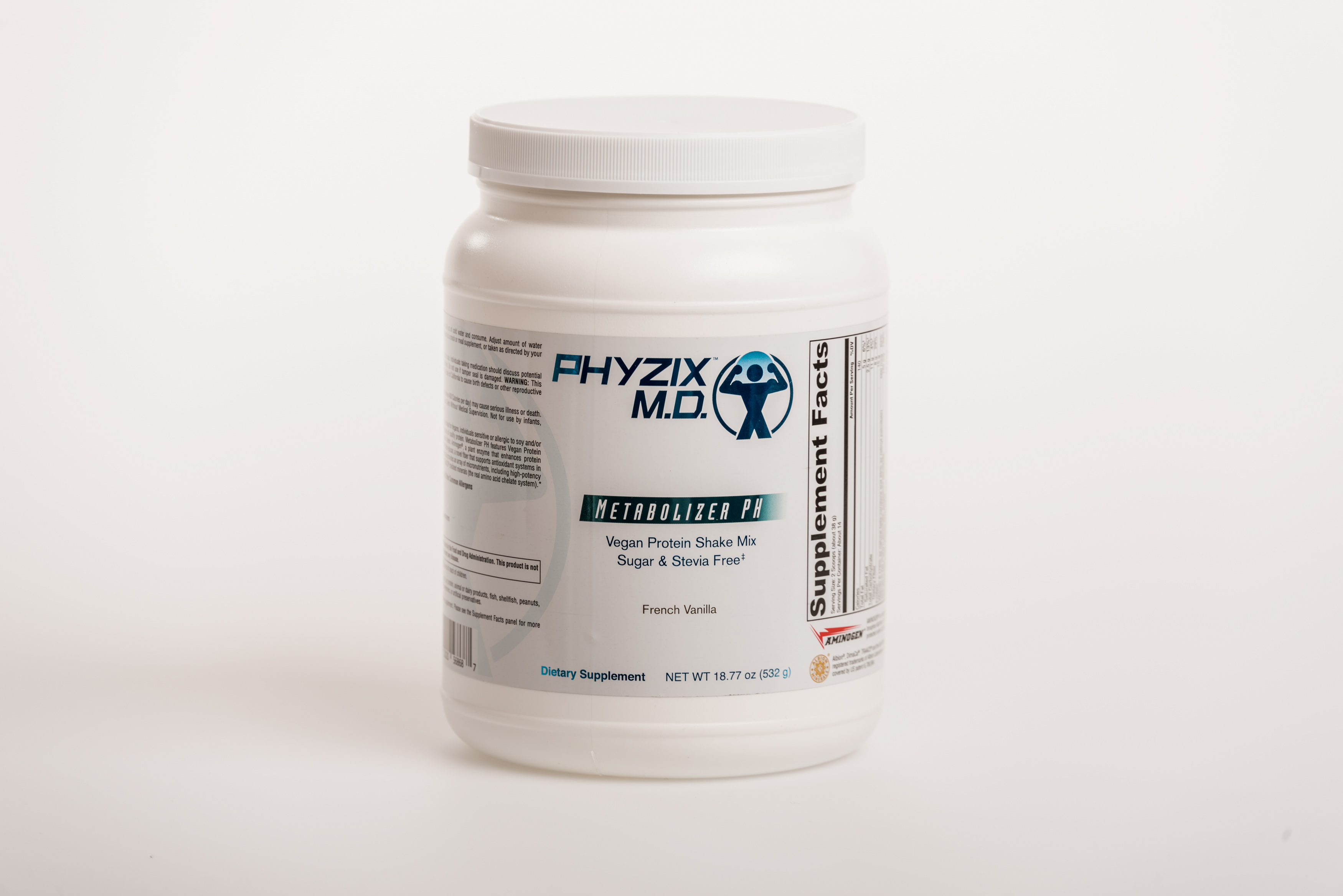 Metabolizer PH is a protein powder in the cleanse program.