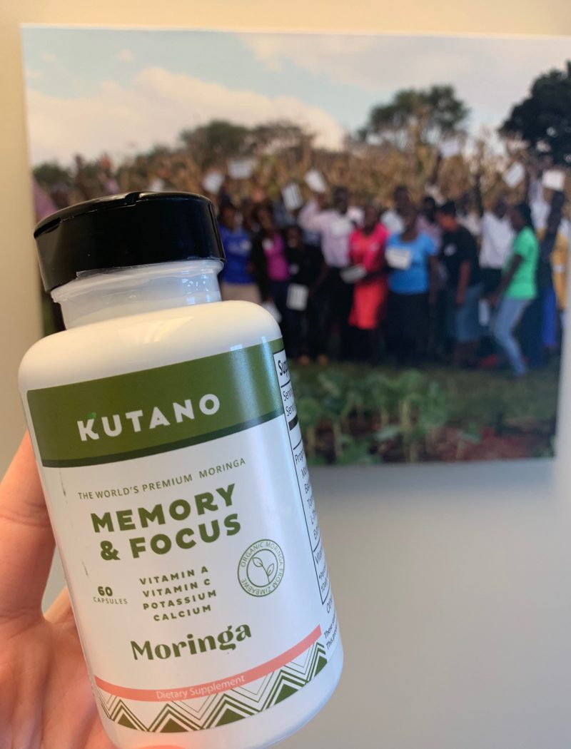 Kutano Memory & Focus moringa capsules are improving memory and mental clarity.