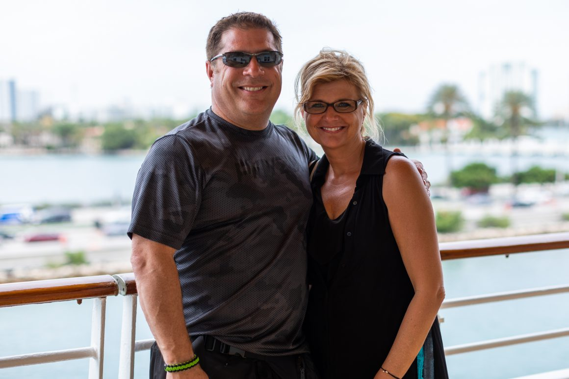 Bonvera leaders, Joe and Laura Darkangelo, enjoying a Bonvera incentive trip.