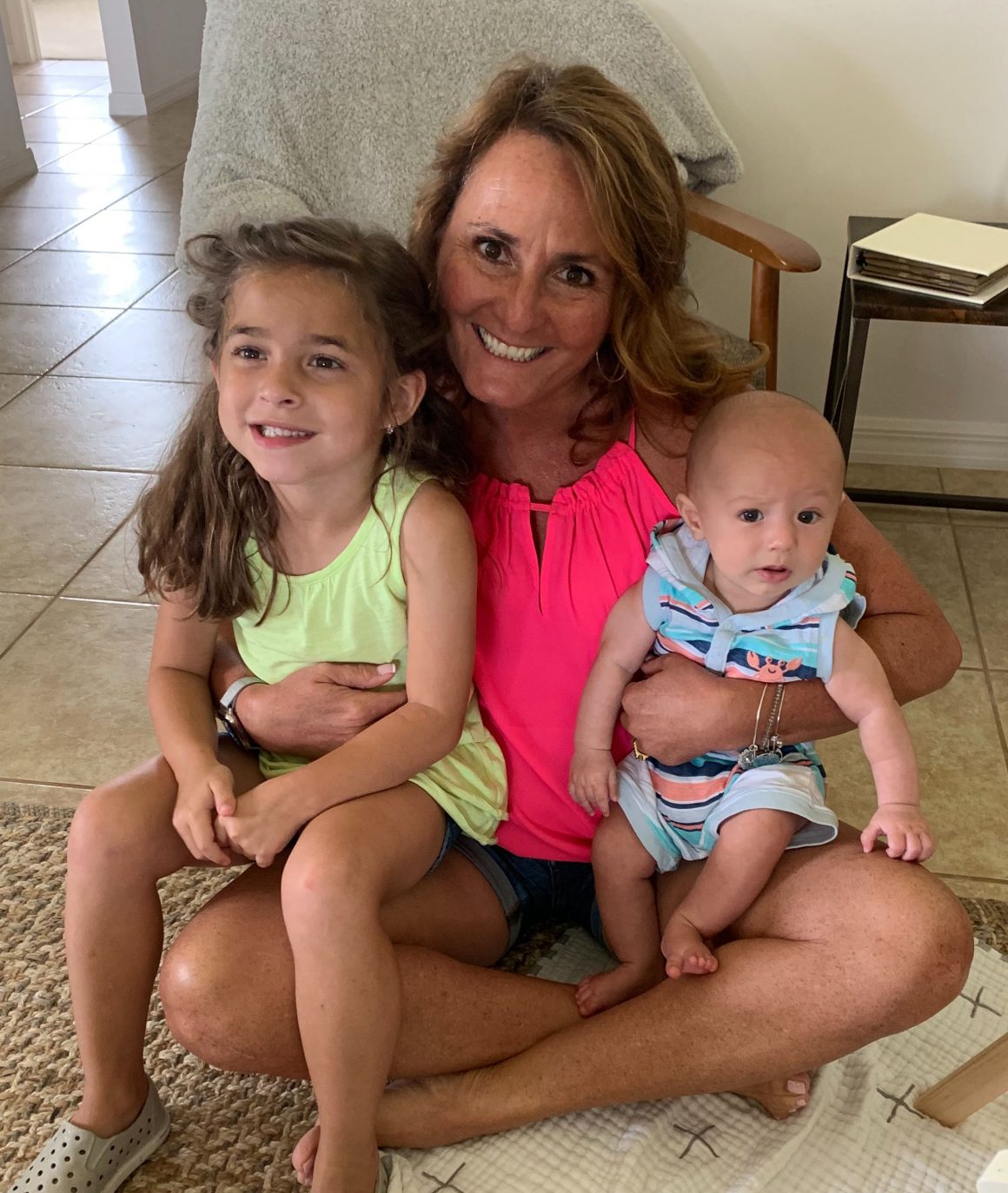 Pictured is Bonvera leader, Dolores Martin, with her grandchildren.